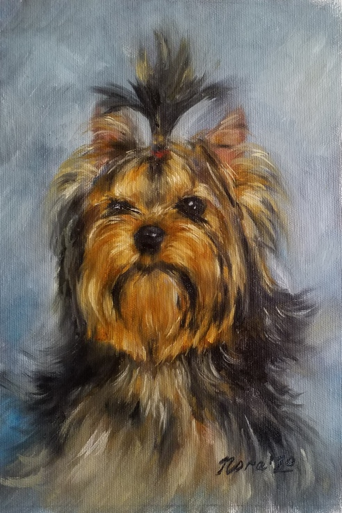 memory dog portrait oil painting